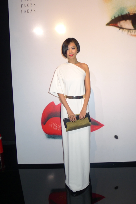 Kong Jing Nan in Evening dress