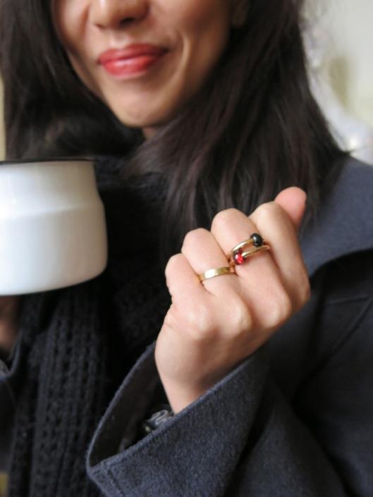 I simply loved her Pomellato rings.