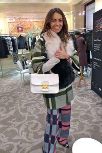 Viviana Volpicella, Italian editor wearing the super hot new brand MSMG