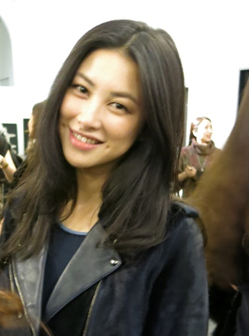 The pretty Chinese actress ZhuZhu at the Vogue Jay Ahr project last night.