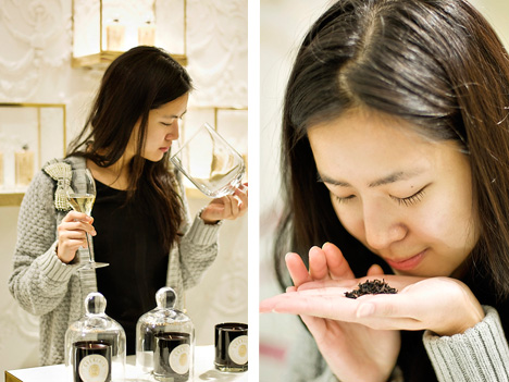 Blogger Edith Wang sharing the re-opening of the Guerlain flagship with the Chinese audience.