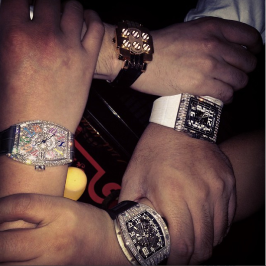 An instagram shot from one of many chinese millionaires showing off their bling online