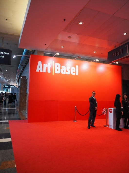 The VIP entrance of Art Basel Hong Kong that just closed its doors in HK.