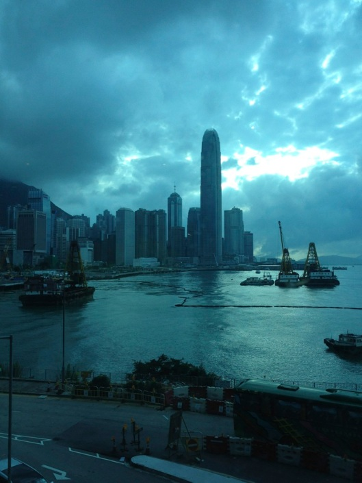 The beautiful Hong Kong skylight from the HK Convention Center.