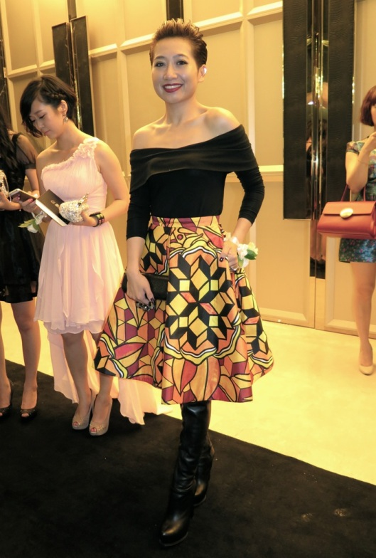 One of the two truly cool ladies that night, this one in Chictopia, an emerging chinese label.