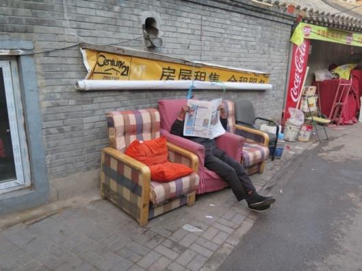 A local ignoring the masses.