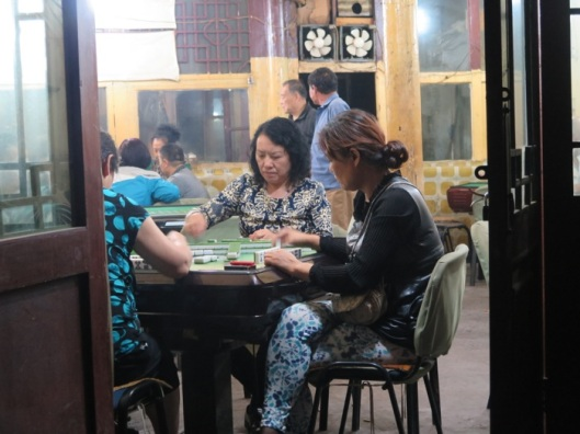 Among the hipsters and visitors, for the mahjong parlors, it was business as usual.