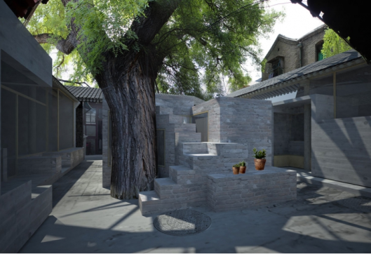 When architecture integrates cleverly the existing structure. This courtyard now hosts a children library.