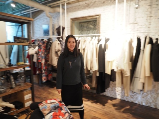 "The incredibly talented Yu Wanning ""Evening"" in her atelier. We selected some ultra chic black and white pieces from her latest collection."